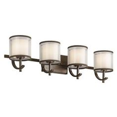 Hampton Bay, 4 Light Mission Bronze Wall Vanity, 89577 At The Home Depot