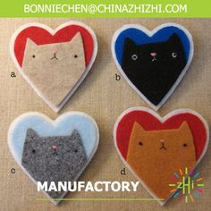 Items similar to grumpy kitteh heart brooches on Etsy Fabric Crafts, Sewing Crafts, Sewing Projects, Craft Projects, Fabric Brooch, Felt Brooch, Brooch Pin, Cat Crafts, Kids Crafts