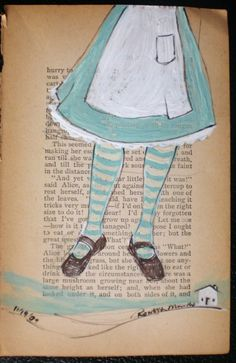 Flying Girl Alices Off or This Seemed Like A Good by rowenamurillo, $65.00