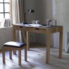 Other Image Watford 2-Drawer Desk with Leather-Look Top La Redoute Interieurs