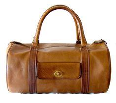 Bonnie Cashin for Coach Saddle Leather Safari Bag Duffle Tote Carry On 1960s  2