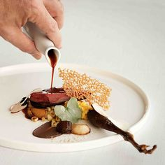 Chef Julien Royer of restaurant JAAN from Singapore is whipping up magic w/ seasonal ingredients and presenting them beautifully like this hay roasted pigeon dish. See more of his artisanal French cuisine in our latest #FoodGallery on http://theartofplating.com #TheArtOfPlating