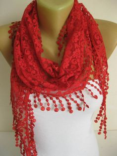 Lace scarf women scarves gift Ideas For Her Women's by MebaDesign