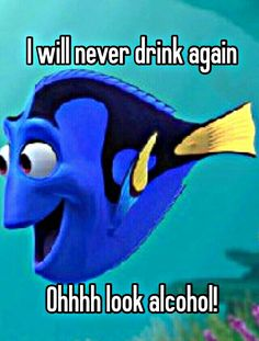 I will never drink again.