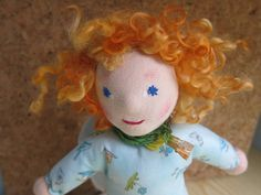 Carina Angel's Doll in Waldorf style with curly
