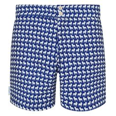 Tailored French Bulldog Small Print : Navy and White White French Bulldogs, Swim Shorts, Patterned Shorts, Navy And White, Stylish, Swimwear, Men, Collection, Fashion