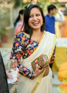 Latest Plain saree with Designer Blouse Ideas    Glam up your Plain saree looks   Bling Sparkle