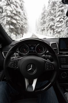 Everything under control with the Mercedes-Benz GLS - also on snowy roads. Photo by Ryan Resatka (www.ryanresatka.com) for #MBphotopass via @mercedesbenzusa