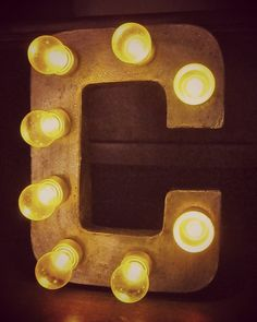 Make Your Own Light Up Marquee Sign Letters - fun-looking and fairly easy with battery operated tea lites