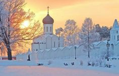 Russian Orthodox Monastery in the winter