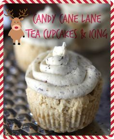 CANDY CANE LANE TEA CUPCAKES & ICING