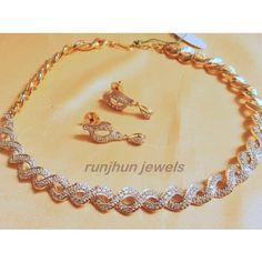 elegant cz necklace