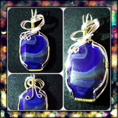 I'm selling Lizzie - A Purple Banded Agate Pendant - £16.00 #onselz