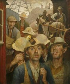 'ST JUST TIN MINERS' (1935) | Harold C. Harvey     ✫ღ⊰n