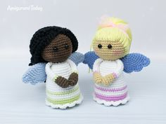 Are you a fan of kawai crochet amigurumi dolls? Pay attention to our collection of amigurumi doll patterns! Here you can find a lot of different amigurumi dolls and doll crochet patterns to fit every taste and skill level. Angel Crochet Pattern Free, Crochet Teddy Bear Pattern, Crochet Angels, Easy Crochet Patterns, Crochet Patterns Amigurumi, Crochet Dolls, Amigurumi Tutorial, Free Pattern, Crochet Snowman