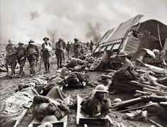 "The First Battle of Ypres (October 30 - November 24, 1914) started the ""Race to Sea"", where opposing sides tried to outflank each other. The Allied troops were outnumbered  and surrounded by the the Germans. They managed to occupy the ""Ypres salient"", but civilians casualties were common, as the city was shelled daily. When winter came, conditions became too muddy and rainy for any battle to continue and the battle was ended. The picture above shows wounded soldiers at the first Battle of…"
