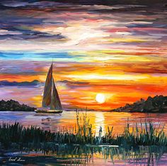 Lake Painting, Sailboat Painting, Oil Painting Flowers, Acrylic Painting Lessons, Oil Painting Abstract, Watercolor Paintings, Oil Paintings, Watercolor Artists, Indian Paintings
