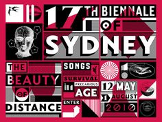 british graphic designer jonathan barnbrook was commissioned to create the visual identity for the biennale of sydney. he also showed a series of site-specific typographic phrases 'a cock or two'. Typography Poster, Typography Design, Jonathan Barnbrook, Aboriginal Patterns, Digital Revolution, Survival, Design Movements, Good Communication, Visual Identity