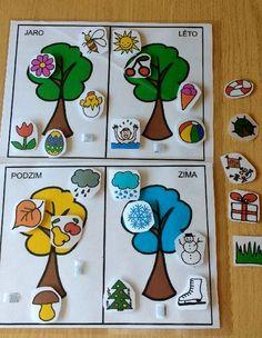 Pro Šíšu: Rocni období Preschool Learning Activities, Alphabet Activities, Preschool Activities, Kids Learning, Preschool Colors, Fall Preschool, Seasons Activities, Kids Education, Crafts For Kids