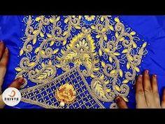 Silk Thread Necklace, Silk Thread Bangles, Thread Jewellery, Gold Jewellery Design, Blouse Designs Silk, Bridal Blouse Designs, Embroidery Online, Hand Embroidery Designs, Aari Work Blouse