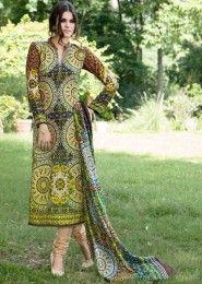Casual Wear Green Pashmina Printed Churidar Suit