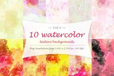 Water color texture Vol 4. You'll get 10 high resolution jpeg with 3,000 x 2,500 pixel and 300 dpi. +++ Big Bundle +++ You may also interested in the full pack. 40 Watercolor Textures (free bonus) https://thehungryjpeg.com/product/11662-40-watercolor-textures-free-bonus/ Enjoy!!