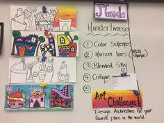 Jamestown Elementary Art Blog: Reporting... Fifth grade Freidrich Hundertwasser architecture