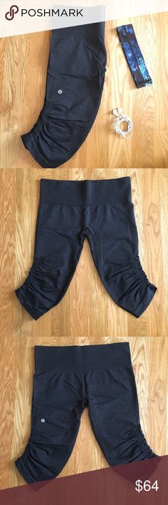 Ebb and Flow lululemon cropped yoga pants Heather grey pants that are super comfortable and cute. Perfect for running. They are in great condition because they have only been worn a few times (my mom wore her align yoga pants more often). lululemon athletica Pants Leggings