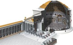 Cross-section of the Pantheon