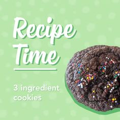 Have fun baking these delicious 3 Ingredient Cookies! So easy that the kids can help, and they taste delicious!