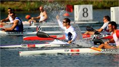 On the penultimate day of the London Games, Great Britain's Ed McKeever celebrates winning gold in the men's 200m kayak K1 sprint