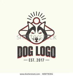 Black and White Dog Logo