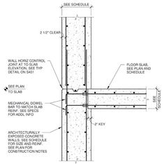 cast in place concrete wall section - Google Search