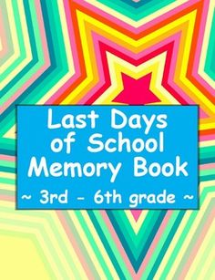Every year I encourage my students to be self-reflective about every thing they have learned academically, emotionally and socially. I also encourage them to reflect on how much every student has grown over 9 months. To capture all of those warm-fuzzies, we create these Last Days of School Memory Books.