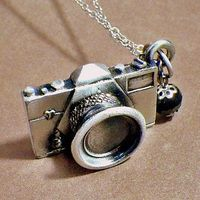 Your Best Shot: camera pendant charm necklace (for her / women)