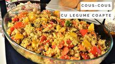 Cous-cous cu legume coapte - Retete culinare by Teo's Kitchen Couscous, Fried Rice, Fries, Tasty, Vegetables, Ethnic Recipes, Kitchen, Places, Food