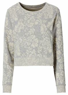 #grey #sweater with #flower print from #rainbow