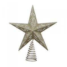 Classic gold star tree topper