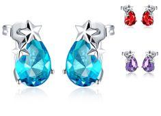 Stars Earrings Amethyst/Ruby/Sapphire by UloveFashionJewelry, $9.45