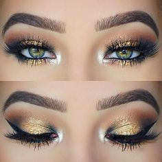 """""""Love this gorgeous, shimmering glam look! @klaudiabadura used shades Millennial, Girls Night, Golden Nugget, and Sin City from our Stardust by Vegas Nay Collection to get the look. (Available..."""