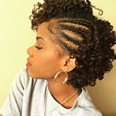 Transitioning involves slowly growing out your natural hair until you're ready to cut off your relaxed ends. Here are 35 transitioning styles for short hair. styles 35 Transitioning Hairstyles For Short Hair Curly Hair Styles, Short Hair Styles Easy, Medium Hair Styles, Protective Styles For Natural Hair Short, Protective Hairstyles For Natural Hair, Natural Hair Styles For Black Women, Braids With Curls, Side Braids, Braids With Natural Hair