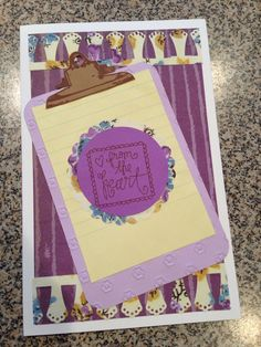 """For my MIL:). The clip stamp is by Fiskars- """"Hip Clips"""". Check out the set if you are an office supply lover!"""