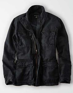 Sherpa Lined, Mens Outfitters, Military Jacket, Flannel, American Eagle Outfitters, Leather Jacket, Camping, Man Shop, Coats