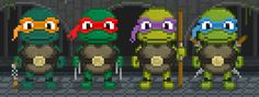 Made some TMNT pixel-art, I miss the arcade games. - Imgur