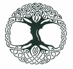 Celtic tree of life design