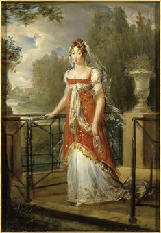 Portrait of Caroline Murat, neé Bonaparte by Francois Gerard, early 19th century