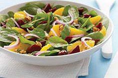Citrus and beet spinach salad. #kraftrecipes