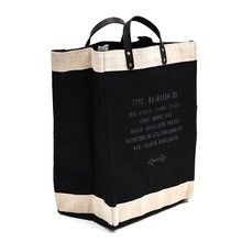 Market Bag By Apolis Global Citizen - Black - Design Menagerie Tods Bag, Latest Bags, Jute Bags, Everyday Items, Market Bag, Bago, Fashion Bags, Leather Bag, Reusable Tote Bags