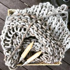 Fat Wool Co blanket in progress!