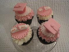 """graduation cupcakes - this time for a girl who wanted something very """"girlie"""""""